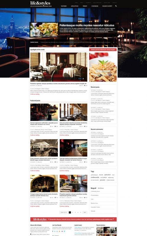 Lifestyle Magazine Wordpress Theme - Lifestyle - Home