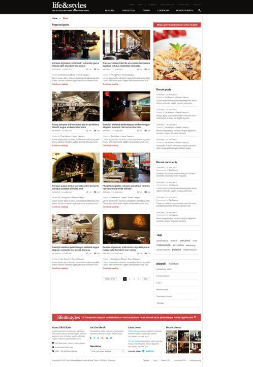 Lifestyle Magazine Wordpress Theme - Lifestyle - Blog