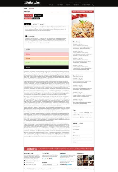 Lifestyle Magazine Wordpress Theme - Lifestyle - Contact