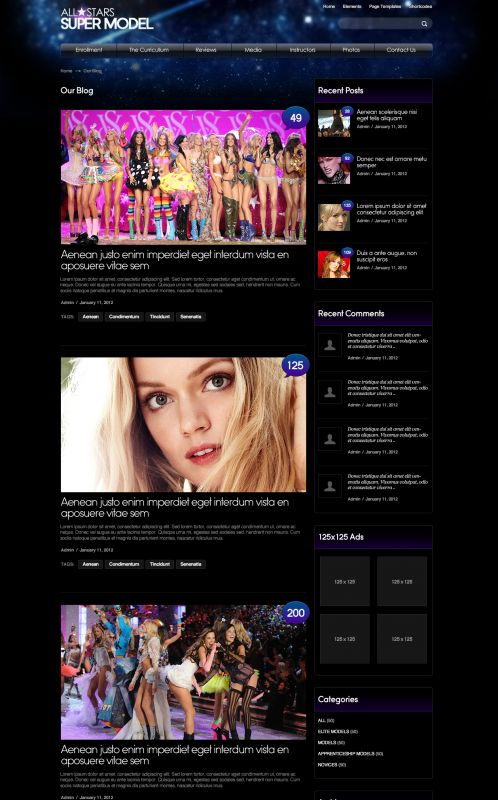 Fashion/Model WordPress Theme - ModelAgency - Blog