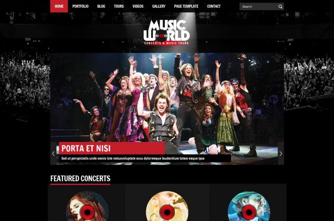 Music Band Wordpress Theme - MusicWorld