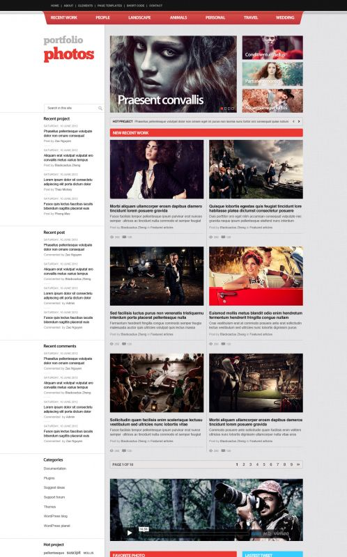 Photography/Portfolio WordPress Theme - PortfolioPhotos - Home