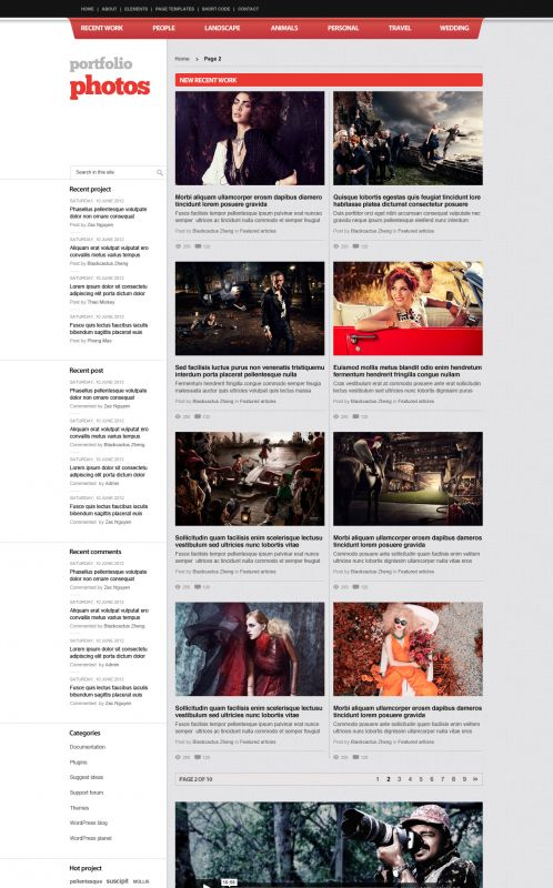 Photography/Portfolio WordPress Theme - PortfolioPhotos - Blog