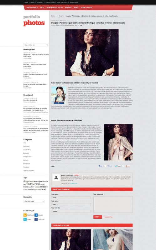 Photography/Portfolio WordPress Theme - PortfolioPhotos - Detail