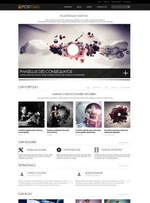 Portfolio WordPress Theme - Posfolio
