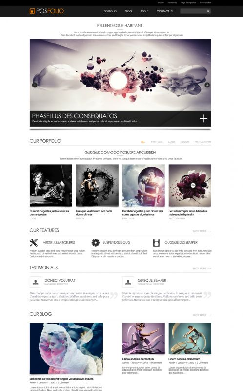 Portfolio WordPress Theme - Posfolio - Home