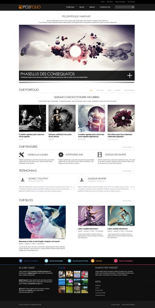 Portfolio WordPress Theme | Posfolio | WPDance