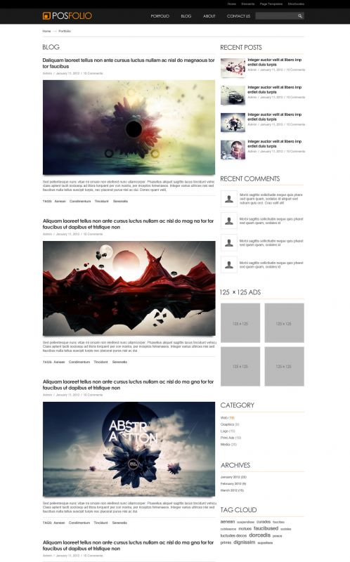 Portfolio WordPress Theme - Posfolio - Blog
