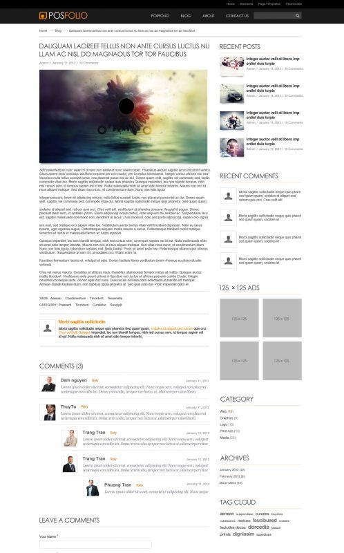 Portfolio WordPress Theme - Posfolio - Details