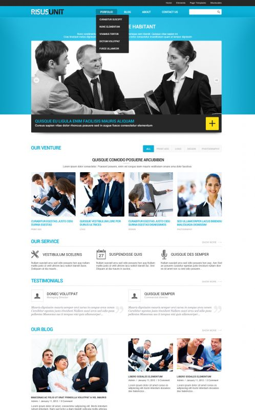 Corporate/Business WordPress Theme - RisusUnit - Home
