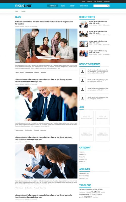 Corporate/Business WordPress Theme - RisusUnit - Blog