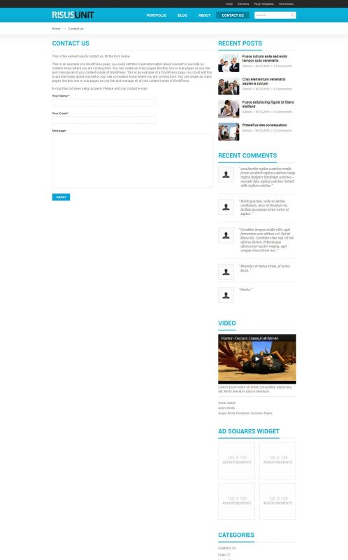 Corporate/Business WordPress Theme - RisusUnit - Contact