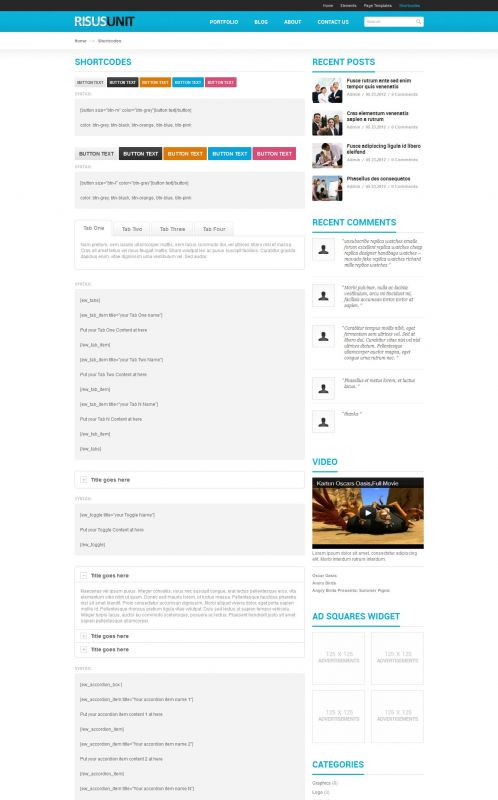 Corporate/Business WordPress Theme - RisusUnit - Shortcodes