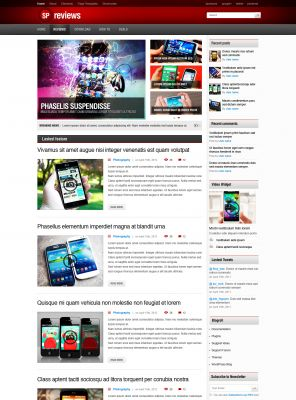 Tech Wordpress Template - Smartphones