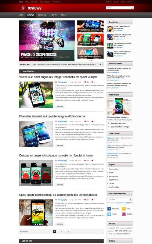 Tech Wordpress Template - Smartphones | WordPress Themes ...