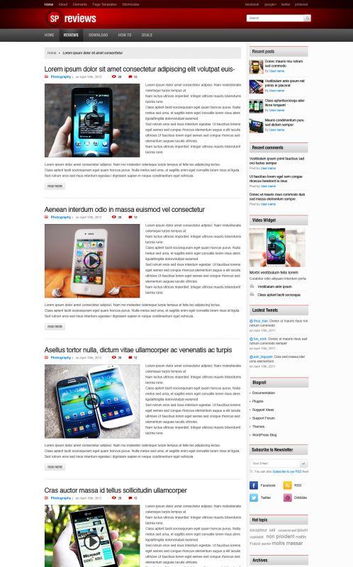 Smartphones Magazine WordPress Theme -Smartphones - Blogs