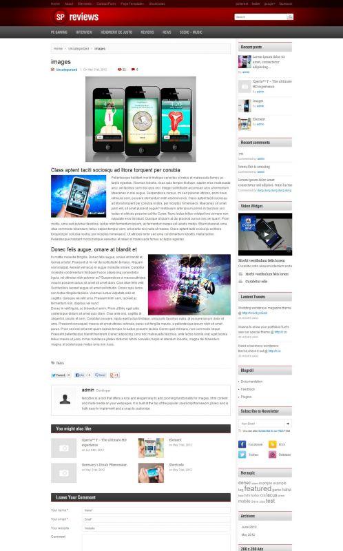 Smartphones Magazine WordPress Theme -Smartphones - Details