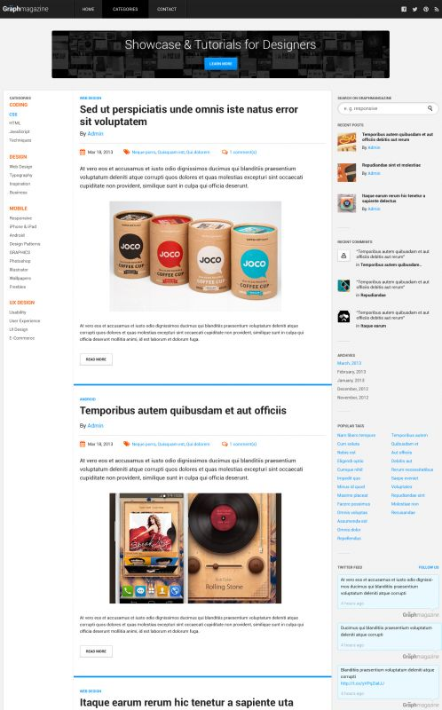 Responsive Magazine/News Theme - Smashing