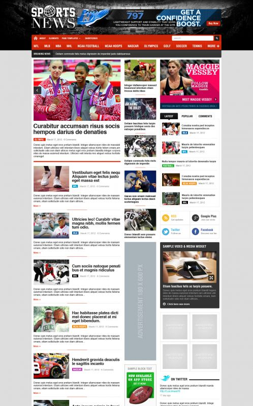 Sport Magazine WordPress Theme - SportNews - Home