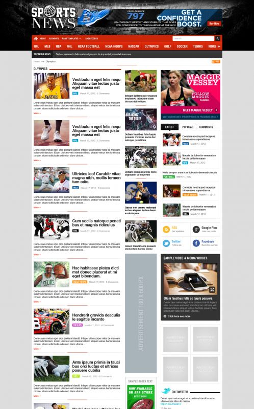 Sport Magazine WordPress Theme - SportNews - Blog