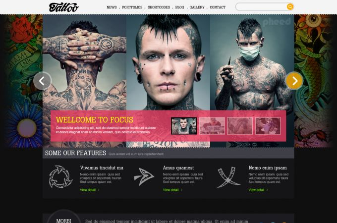 Amazing Wordpress Theme - Tattoo