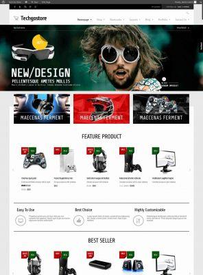 Responsive WooCommerce Wordpress Theme - TechGoStore