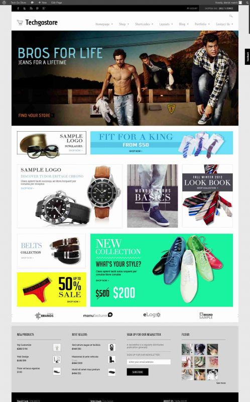 Responsive WooCommerce Wordpress Theme - TechGoStore
