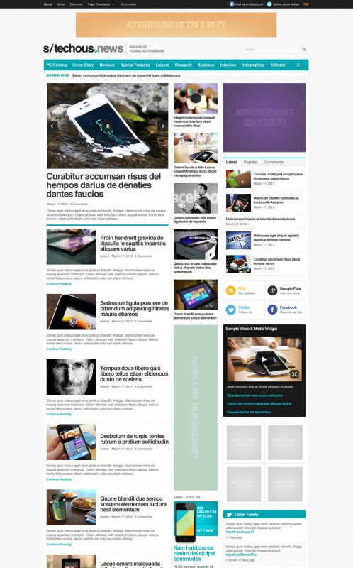 Technology Magazine WordPress Theme - TechMag - Home
