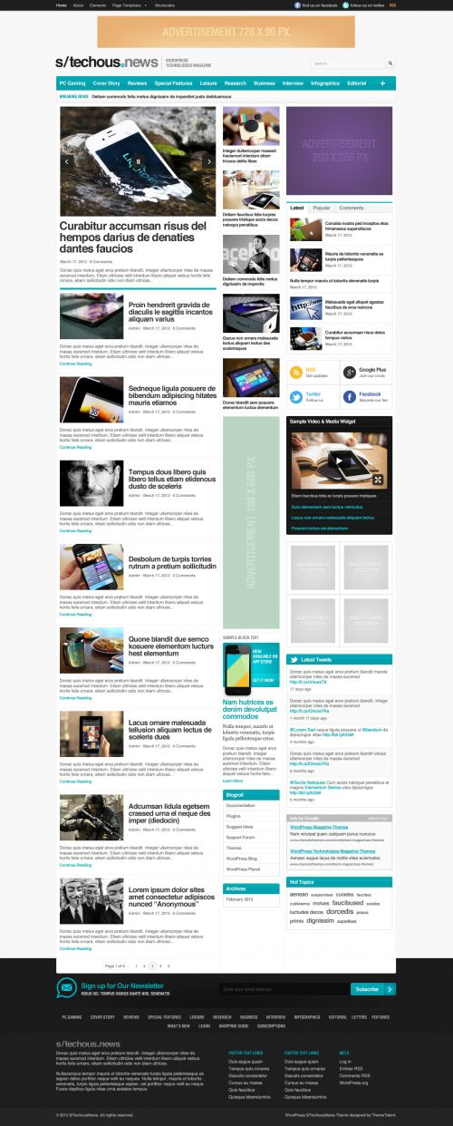 Technology Magazine WordPress Theme | TechMag | WPDance