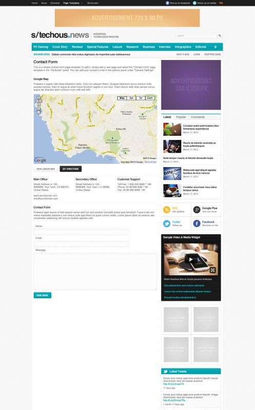 Technology Magazine WordPress Theme - TechMag - Contact