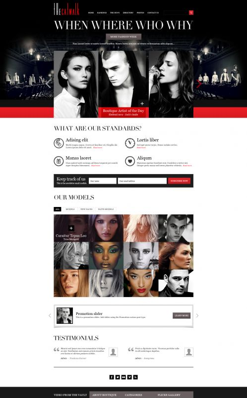 Fashion/Portfolio WordPress Theme - TheCatwalk - Home