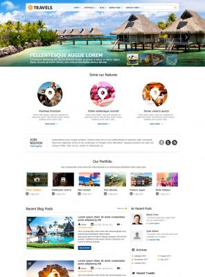 Travel Magazine WordPress Theme - Traveling