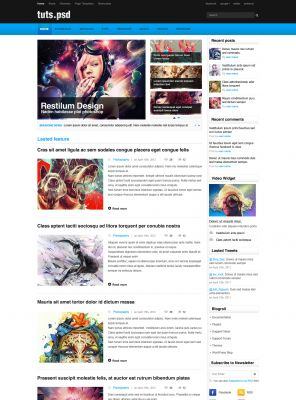 Tutorial Magazine Wordpress Theme - TutsPsd