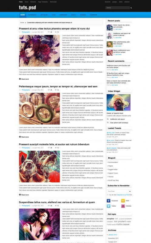 Design Magazine Wordpress Theme - TutsPsd - Blog
