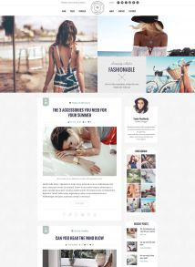 Vintage Look - Fashion Blog WordPress Theme