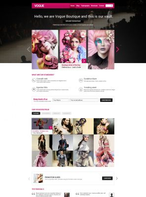Responsive - Model Portfolio Wordpress Theme - VogueFashion