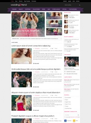 Wedding Album Wordpress Theme - Wedding