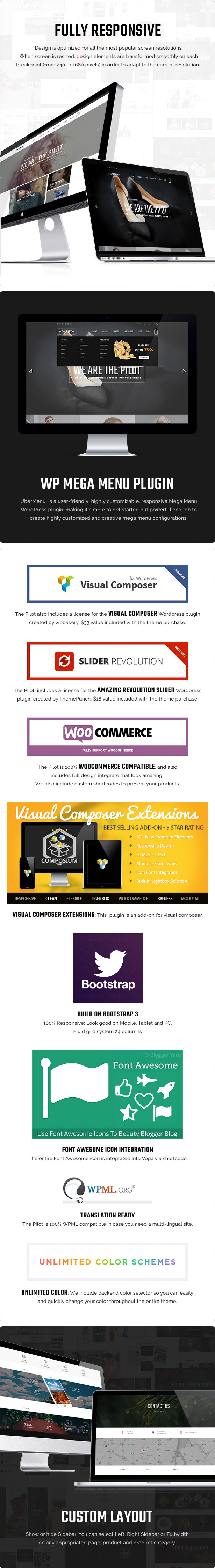 Wordpress Woo General  Download ThePilot | Premium Responsive WooCommerce Theme Best For Fashion Corporate Fitness Blog Magazine nulled feature4